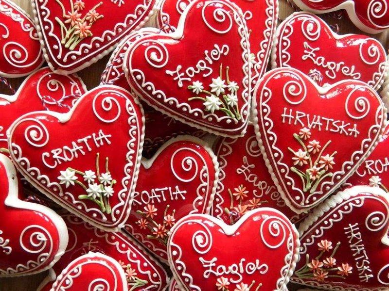 Pierniki w kształcie serca